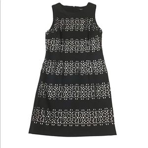 White House Black Market Black & White Dress Size6